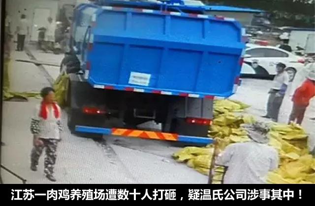 江苏一肉鸡养殖场遭数十人打砸 疑温氏公司涉事其中!
