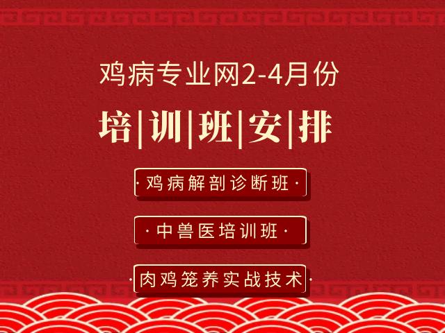 鸡病专业网2-4月份培训班时间安排通知